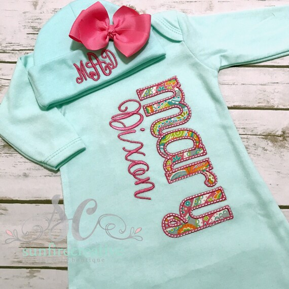 Girl Coming Home Outfit Baby Gown Bow Baby Girl Bring Home
