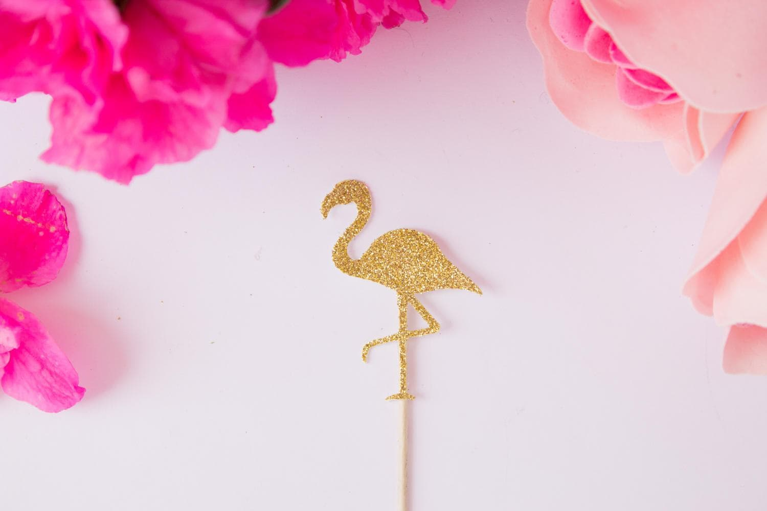 12CT Flamingo Cupcake Toppers, Beach Party, Tropical Party, Hawaii ...