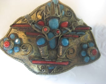 Antique Brooch Native American or Mexican No Idea what the origin is looks old and hand made