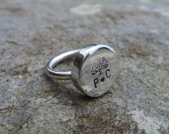 Ring tree personalized 925 sterling silver.