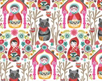 Josephine Kimberling for Blend Fabrics Riding Hood Story White (Half metre)