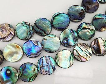 26 pcs 15m Abalone Shell Round Coin Beads