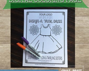 Tank Dress Coloring Page | Ballerina Dress Color Page | Cap Dress Color Page | DDS Coloring Page | Design a dress coloring page | Dot Dot Sm