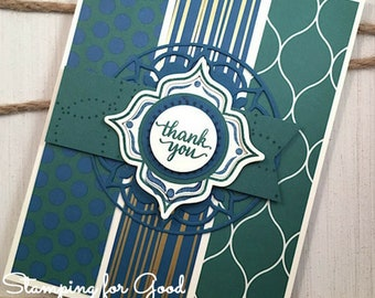 Thank You Handmade Greeting Card - Stampin' Up Eastern Beauty