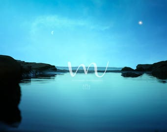 Beautiful Night- Ocean Digital Background