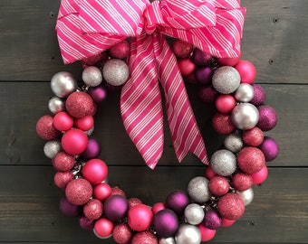 Holiday Shatterproof Ornament Wreath
