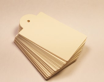 Die Cut, Hang Tags, Cream Blank Tags, Boutique Tag, Gift Tag, Retail Tag, 110 lb Card Stock CP-1202