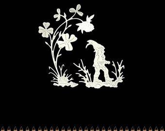 Cut scrapbooking scrap character elf Pixie gnome flower cut paper embellishment die cut creation
