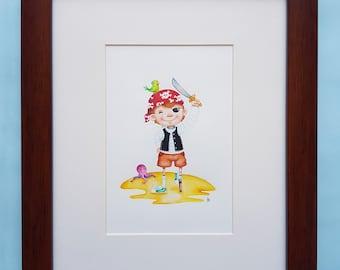 Child Pirate Illustration