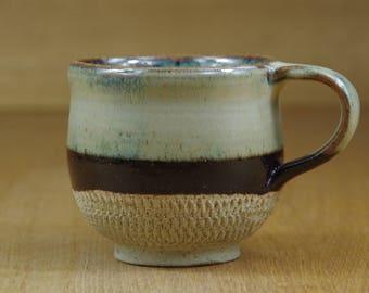 Mug, Pottery Cup, Coffee Mug, Handmade Stoneware Teacup, Ceramic Mug