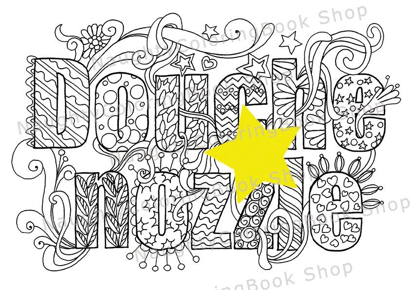 Douhe Nzzle Swear Words Printable Coloring Pages Swear