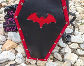 Gothic Leather Coffin Purse