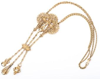 Vintage Mode-Art Art Nouveau Statement Necklace