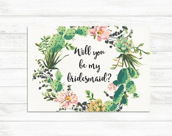 edit yourself editable bridesmaid proposal card will you be
