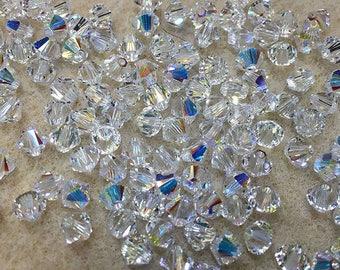Crystal AB 5328 Bicone Swarovski Crystal Beads 3mm 24 beads