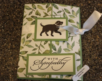 Stampin Up Homemade Greeting Card Dog With Sympathy Card 7137