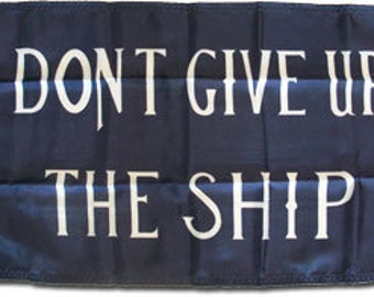 """Commodore Perry (Dont Give Up The Ship) - 12"""" x 18"""" Nylon Flag"""