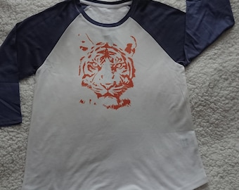 Ladies, 3/4 Tshirt, Orange Tiger, Unleah your wild side