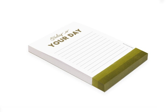 Lined Notepad Today Is Your Day | A6 | Bucket List | Shopping list | Dream list | To Do list | Day planne | Glued back | Stationery