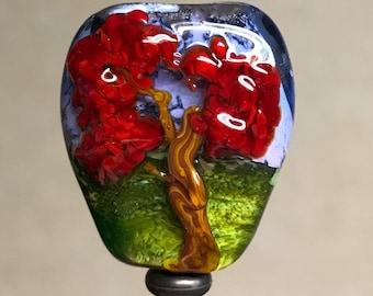 Glass Bead Focal Tree Lampwork Flamework Cloud Eleven SRA
