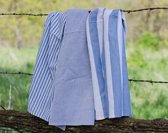 Blue Handwoven Kitchen Towels in 3 Patterns