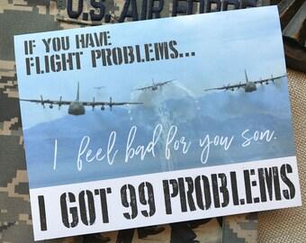 3#, Air Force Card, Basic Training Card, Military Card, Beast Week Card, Air Force BMT, Tech School, 99 Problems Card, Proud Air Force Mom