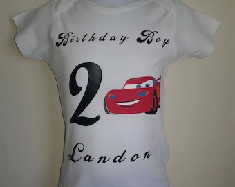 Cars Birthday/ Cars inspired shirts and onsies/ Cars Themed Party/ Birthday Boy/ Birthday Girl