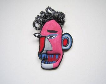 Urban art Basquiat graffiti for loft modern street art urban doll style icon home and living Afro American artist pop culture art wall decor