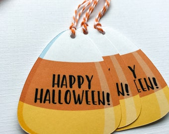 Happy Halloween Gift Tags / Favor Tags / Treat Bag Tags