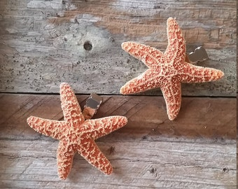 Small SET of Traditional Starfish Hair Clips