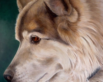 Custom Pet Portrait, Dog Oil Painting, Ready to Hang, Original, Hand Painted Art from your Photo