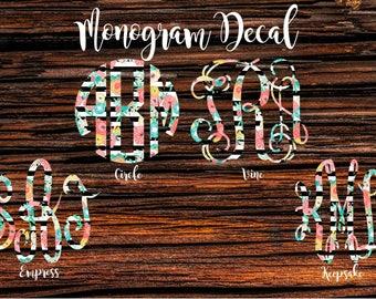 Monogram Decal, Car Monogram, Car Decal
