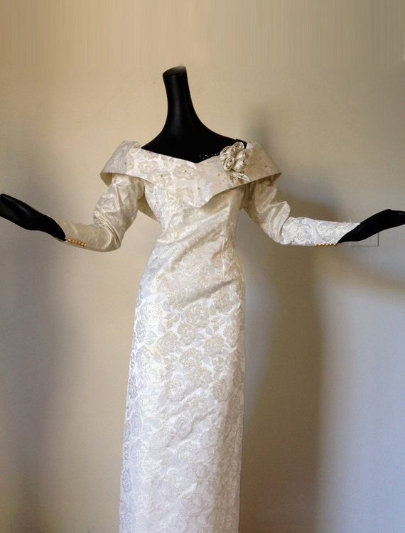 Vintage 60s Wedding Gown 1960s Wedding Dress Bridal Gown Mad