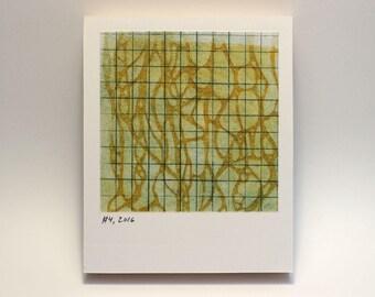 Polaroid #4 - small print - tiny art - geometric art - ready to hang - wall art - fine art series - contemporary art - abstract art