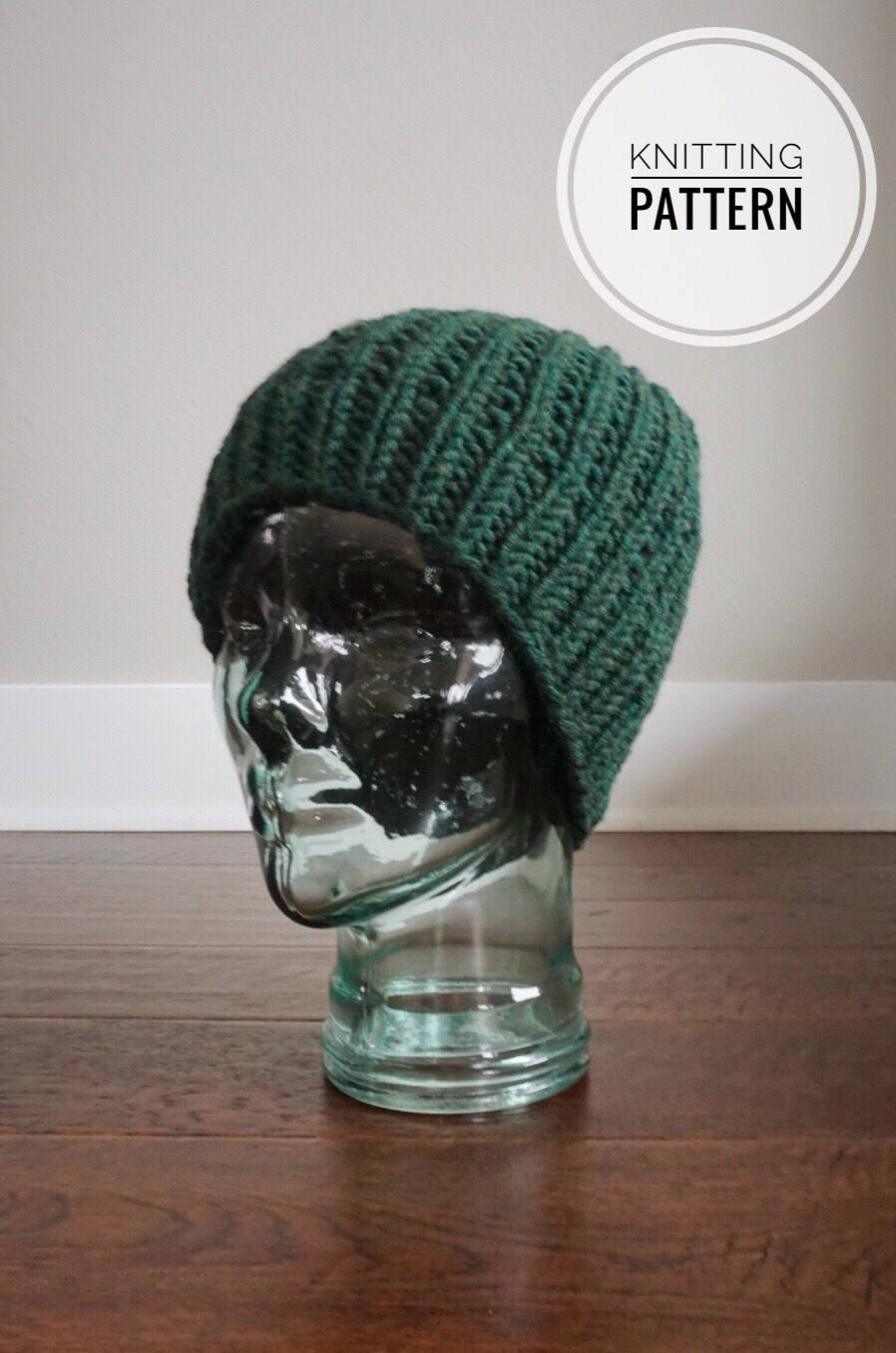 Knitting Pattern. Knit Hat Pattern. Womens Knit Hat. Knit Hat ...