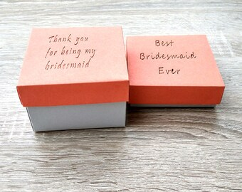 10 Personalized boxes, Gift boxes, wedding favor box, Silver box, Packaging box, Gift box, Jewelry Packaging,  bridesmaid gift box,
