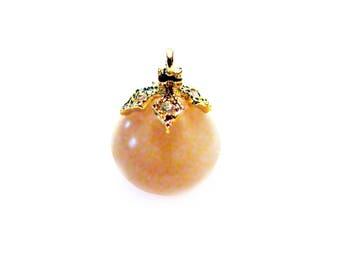 SALE Gold Vermeil 8mm 2 pcs Bead Caps with Cubic Zirconia CZ Pearl Caps