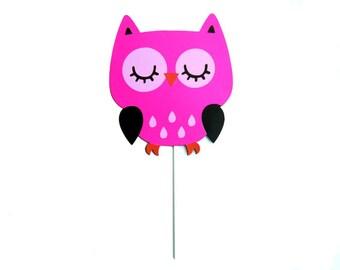 Owl Party Centerpiece Stick - Cake Topper
