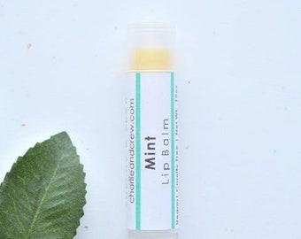 Mint Lip Balm | .15oz twist tube | Vegan Lip Balm