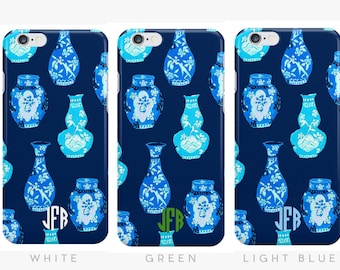 Ginger Jars Monogrammed iPhone Case [Personalized Preppy iPhone 6 iPhone 7 case]