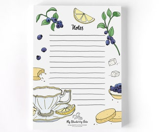 Notepad Earl Grey tea