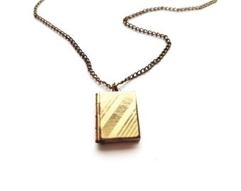 Vintage Gold 1/20 12KT GF B.A.B Necklace with Book Locket Pendant