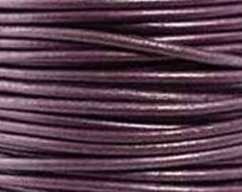 Leather Cord, 1.5 mm, Berry - Metallic, 1YD (LC-1.5-64)