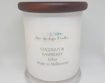 Soy Candle - Coconut & Raspberry