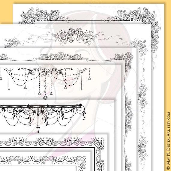 DIY Wedding Invites 8x11 Frame a variety of Floral Border