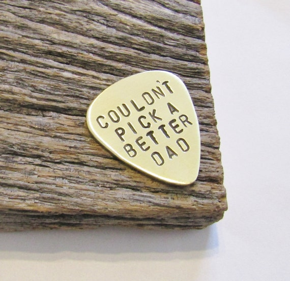 hand stamped guitar pick father s day gift daddy daughter