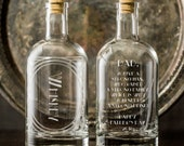 A Strong Drink for Dad-Personalized Etched Spirit Decanter-Home bar/bar cart essentials for the drinking Pops-Custom gifts for Father's Day