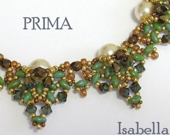 PRIMA SuperDuo Necklace Exclusively PDF Beading tutorial for personal use only