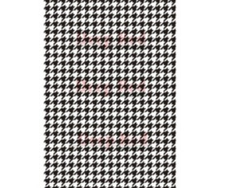 Deep Red Cling Rubber Stamp Rubber Stamp Houndstooth Background Print