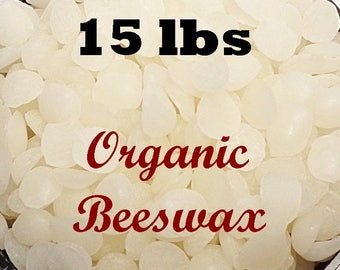 15 LBS White Beeswax Pellets WHOLESALE (Organic, Pure, Fresh) Bulk Pricing! FAST Shipping
